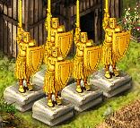 золотые статуи
