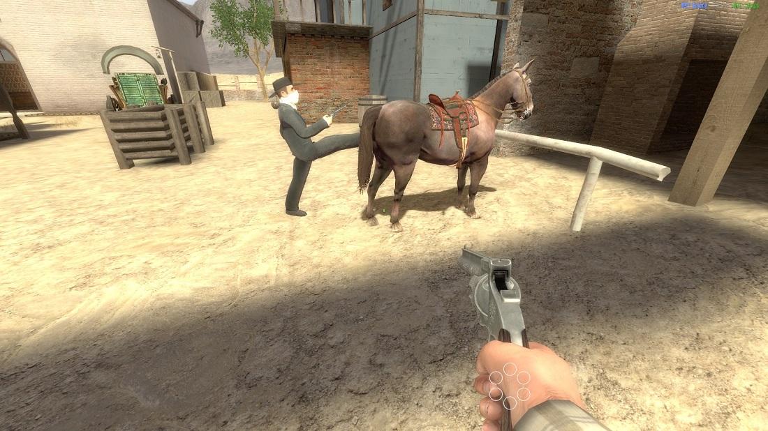пнул лошадь