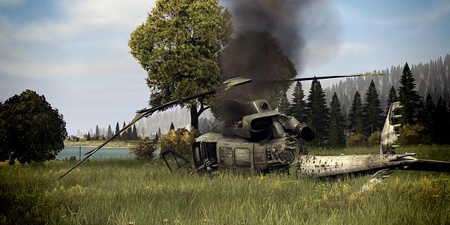 упавший вертолет